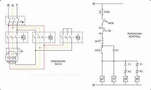 Rangkaian Diagram Garis Delta Pada Motor Induksi Ac 3