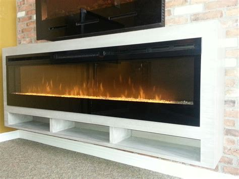 white entertainment center wall unit linear electric fireplaces tv stylish
