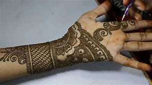 New Stylish Arabic Mehandi Design for Hands Tutorial ...