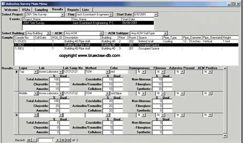 asbestos survey software