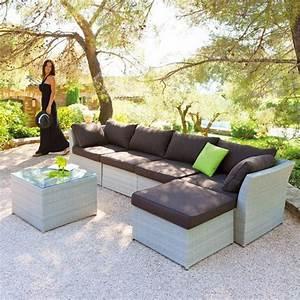 Salon De Jardin Gris Clair : fauteuil d 39 angle s villa gris clair salon de jardin eminza ~ Teatrodelosmanantiales.com Idées de Décoration