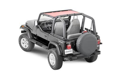 jeep wrangler yj mastertop shademaker mesh bimini top for 87 95 jeep wrangler yj quadratec