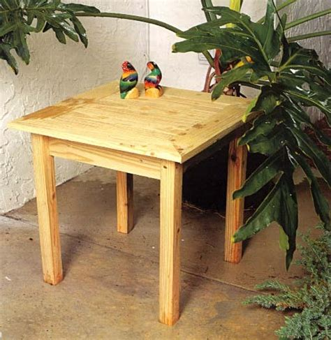outdoor pine  table outdoor wood plans
