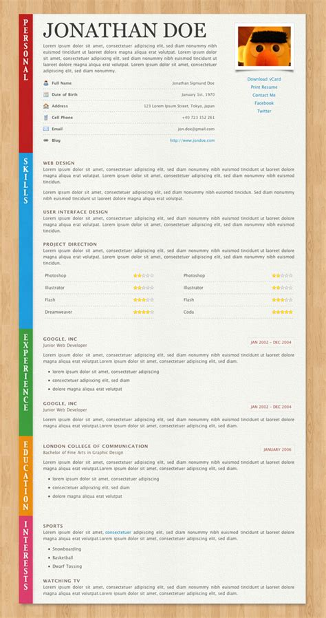Resume Paper by Html Resume Templates