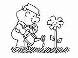 Coloring Pages Environment Printable Theme Garden Watering Gardening Activities Ws Spring Flowers sketch template