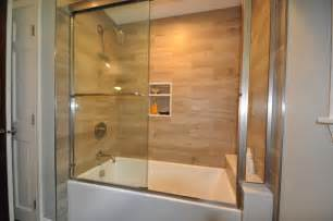 bathroom surround ideas plank tile tub surround contemporary bathroom boston by design 1 kitchen bath