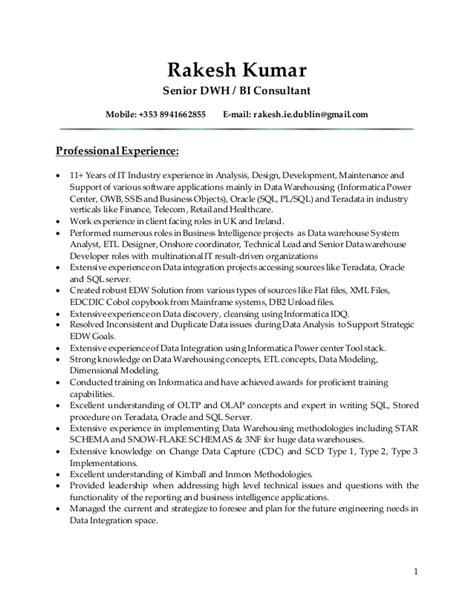 rakesh sr dwh bi consultant resume