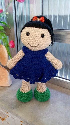 boneca de croche  vestido amigurumi  cm doce noa