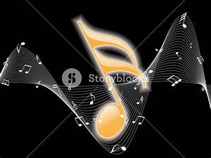 Black Background With Music Notes Royalty-Free Stock Image ...