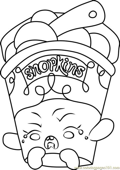 ice cream dream shopkins coloring page  shopkins