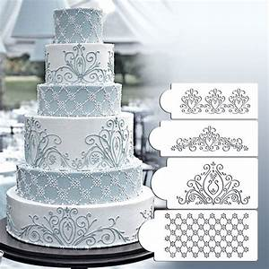 princess lace cake stencil set cake craft stencils cake With lace templates for cakes