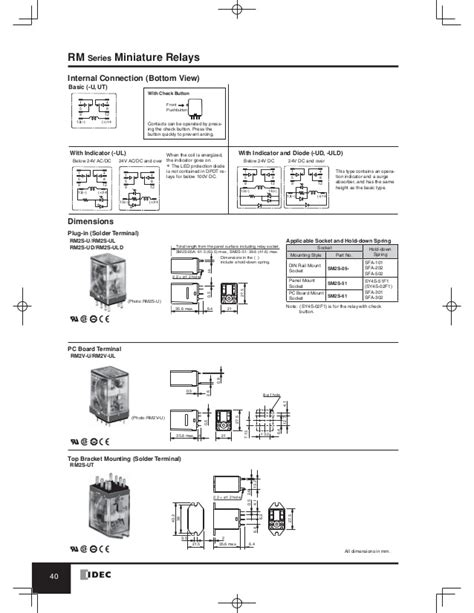 Idec Relay Socket Wiring Diagram by Catalog Relay Idec Www Haophuong