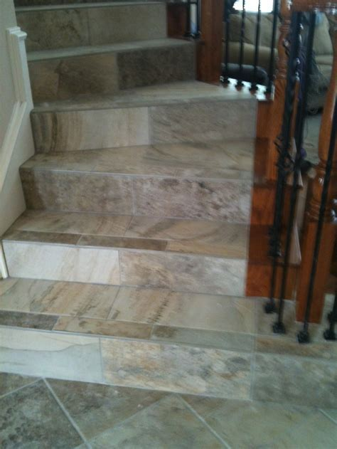 Porcelain tile on stairs   Tile & Natural Stone   FLOHR