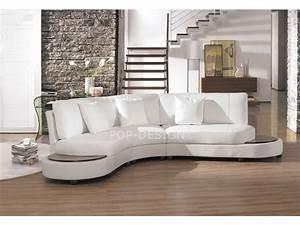 canape design demi lune en cuir foggia pop designfr With canapé en cuir design
