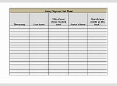 40 Sign Up Sheet Sign In Sheet Templates Word & Excel