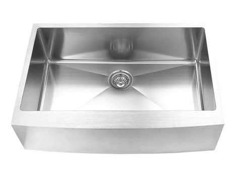 10 inch stainless steel kitchen sink 33 inch x 20 inch apron farmhouse single bowl 18 9679
