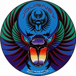 WHEEL IN THE SKY: Journey Captured Logo Sticker from 1981