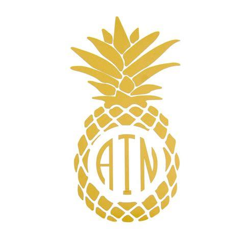 pineapple monogram decal  handpicked pineapple monogram