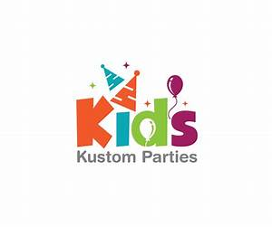 Playful, Modern Logo Design for Kids Kustom Parties by ...