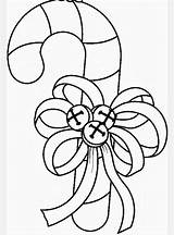 Candy Christmas Coloring Pages Clip Cane Clipart Natal Printable Templates Bells Embroidery Ornament Bow Drawing Xmas Para Canes Decorations Colors sketch template