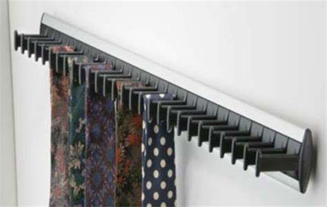 tie racks wall mounted fixed tie rack 432 mm architectural ironmongery sds