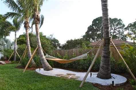 Hammock Between Trees by Hammock Between Palm Trees For The Home