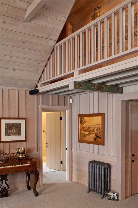 board and batten interior rustic cabin on horsehead bay house