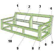 resultado de imagen  planos  construir  sofa