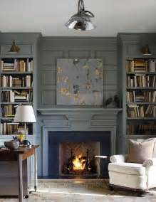 Painted Fireplace Built Ins with Color
