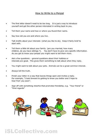 pal letter writing template  children love
