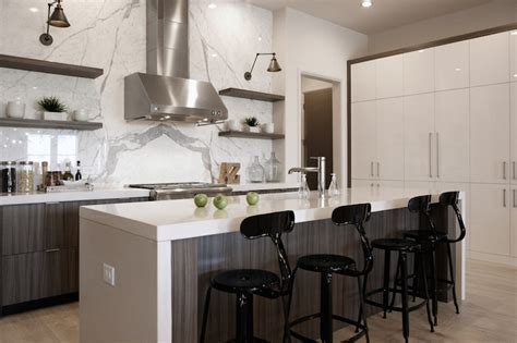 Statuario Marble   Contemporary   Kitchen   CR Home Design