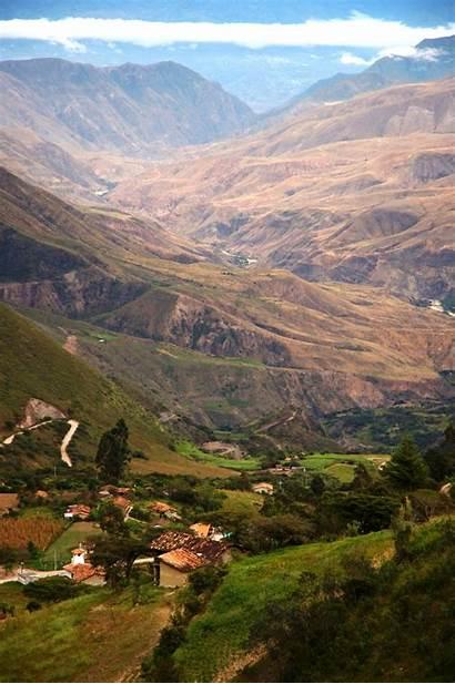Ecuador Saraguro Landscape Rural Andes Mountains Region