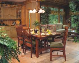 Mission Style Dining Room Set Mission Style Cherry Dining Furniture Craftsman Dining Room Cleveland By Schrocks Of