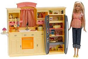 amazoncom mattel barbie play  day kitchen set