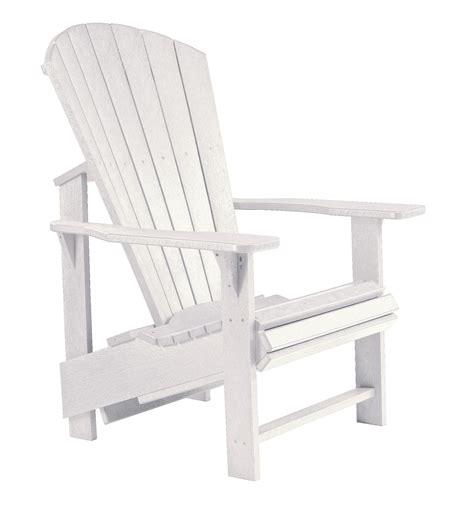 generations upright adirondack chair generations white upright adirondack chair from cr plastic