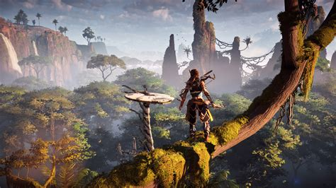 wallpaper horizon  dawn aloy gameplay  games
