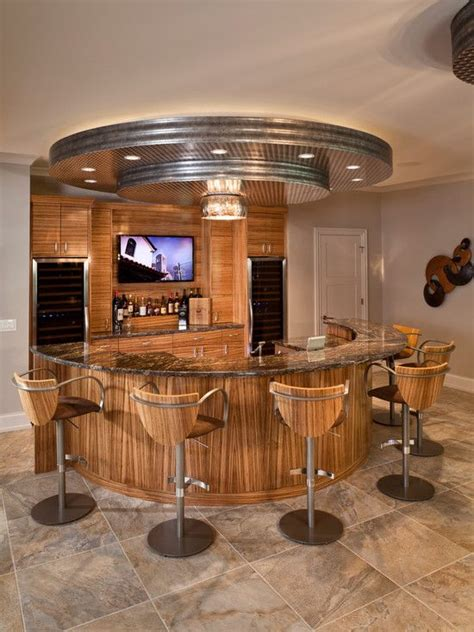 Unique Home Bars by Bar Ideas Contemporary Home Bar Design With Semi Circle