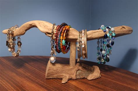 Driftwood Jewelry Display Stand Nautical Home Decoration