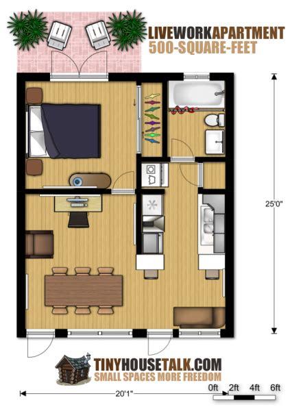 small apartment design  livework  floor plan