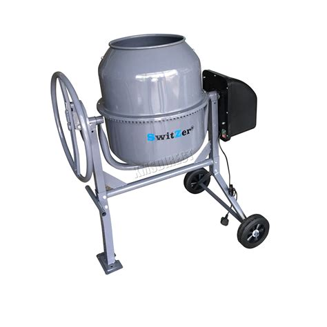 switzer electric cement mixer portable mortar plaster concrete drum 550w 120l 5055418325172 ebay