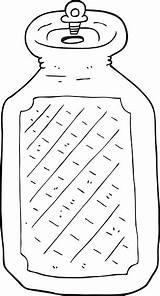 Water Bottle Cartoon Bouteille Coloring Coloriage Clip Deau Ohbq Bizarre Vectors sketch template