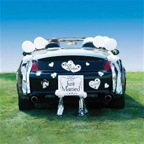 quot just married quot car decorating kit decorations and supplies wedding essentials wedding