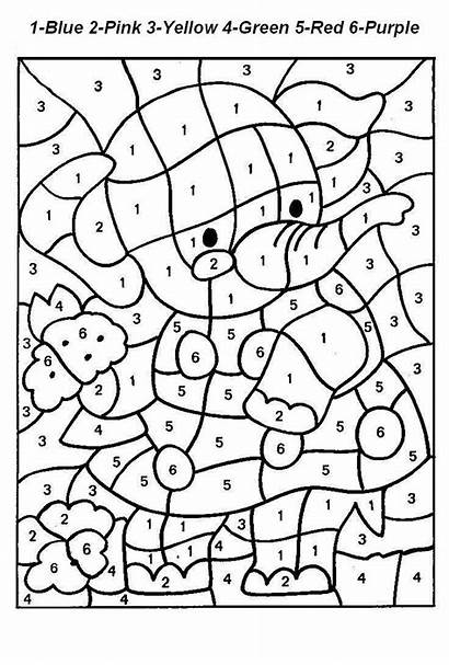 Numbers Coloring Number Pages Printable Colour