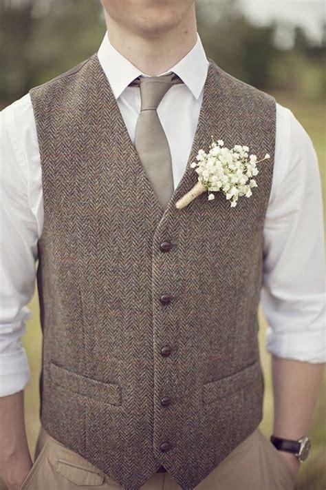 buy  vintage gray tweed vest men suit