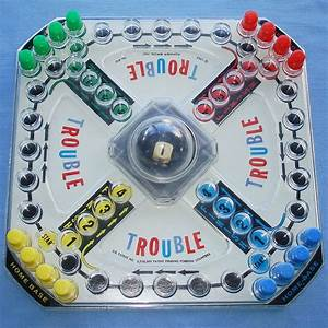 1965 KOHNER TROUBLE POP-O-MATIC NUMBER CUBE SHAKER ...