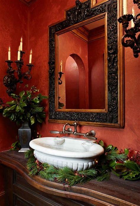 decorate  luxurious bathroom  christmas