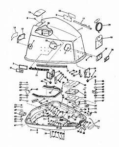 Johnson Motor Cover Parts For 1971 100hp 100esl71c