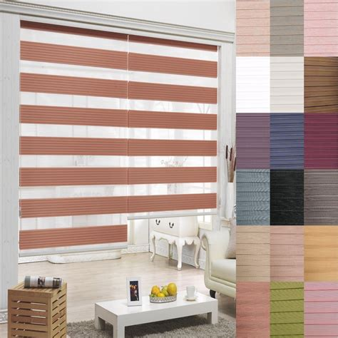Home Blinds by B C T Zebra Shade Home Window Blind Customer Size Order