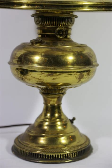 rayo antique brass oil lamp