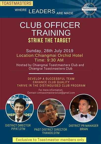 Training Officer Toastmasters International Event District